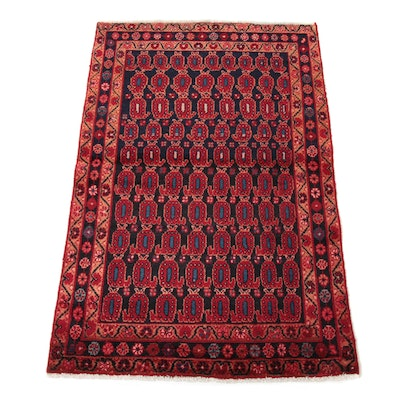 3'3 x 5'0 Hand-Knotted Persian Nahavand Rug, 1970s