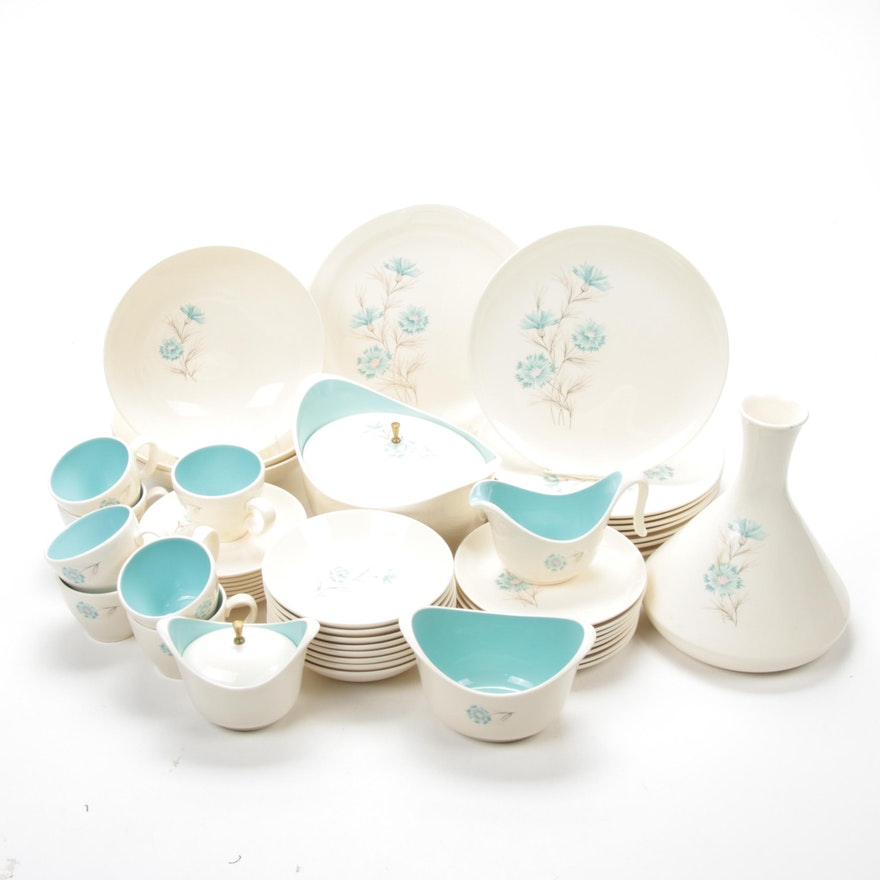 """Taylor, Smith & Taylor """"Ever Yours/ Boutonniere"""" Dinnerware, Mid-20th Century"""