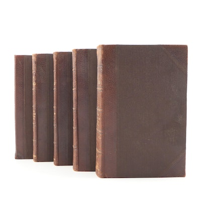 "1902 Leather Bound ""A Textbook of Steam Engineering"", Five Volume Set"