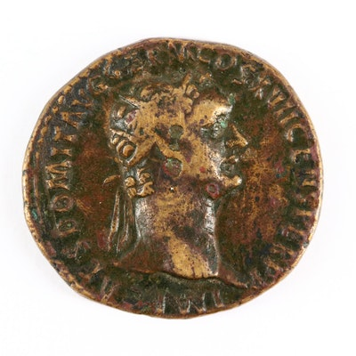 Ancient Roman Imperial AE Dupondius Coin of Domitian, ca. 95 A.D.