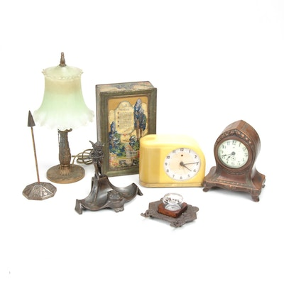 Art Deco Desk Accessories Including Jennings Bros. and Westclox, 1910s-1940s
