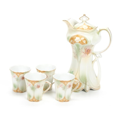 Reinhold Schlegelmilch Porcelain Tea Service, Early 20th Century
