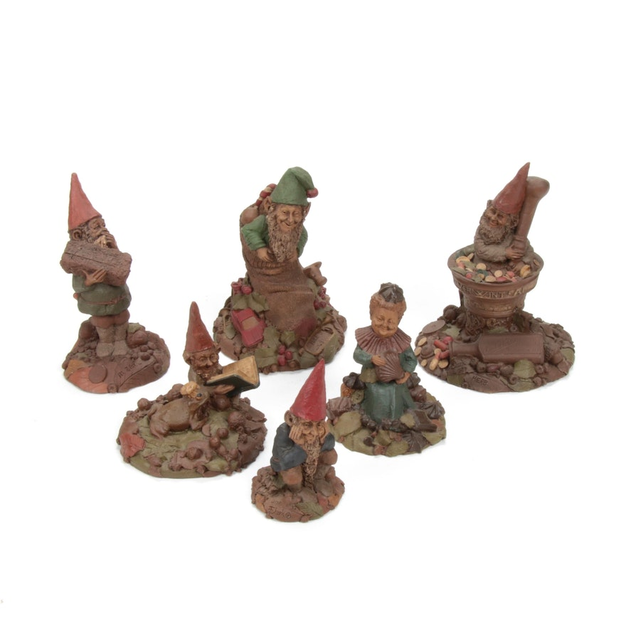 Tom Clark Resin Gnome Figurines, 1980s
