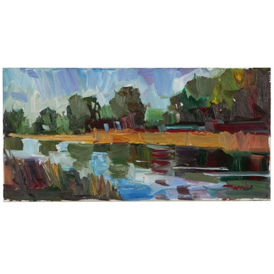 "Jose Trujillo Oil Painting ""The Lazy River"""