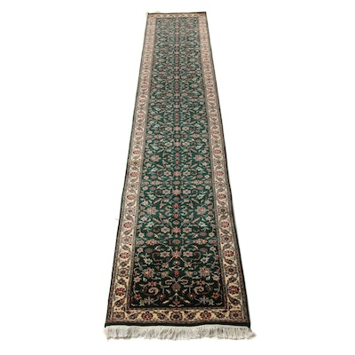 2'6 x 15'11 Hand-Knotted Indo Persian Tabriz Runner, 2000s