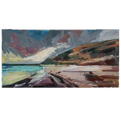 "Jose Trujillo Oil Painting ""Coastal Storm"""