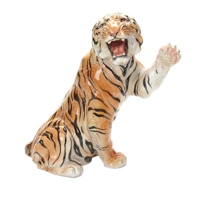 Terracotta Tiger Sculpture, 1970s