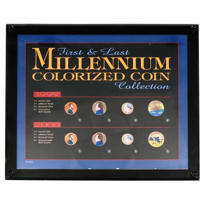 """First and Last Millennium Colorized Coin Collection"" Framed Set"