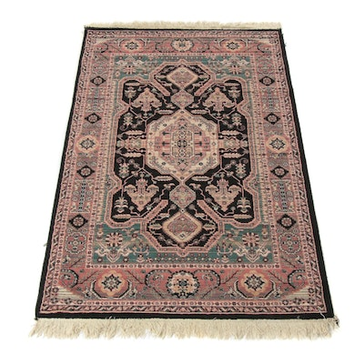 4'1 x 7'2 Power-Loomed Persian Farahan Sarouk Rug