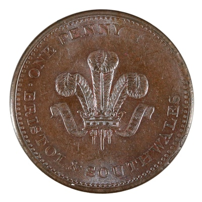 1811 Bristol and South Wales One Penny Token