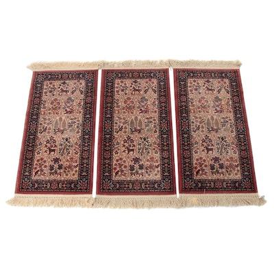 Power-Loomed Persian Tabriz Garden Style Rugs