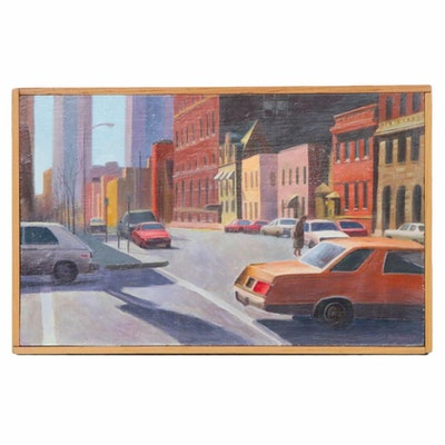 Farnoosh Lanjani Street Scene Oil Painting