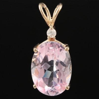14K Yellow Gold Fancy Sapphire and Diamond Pendant