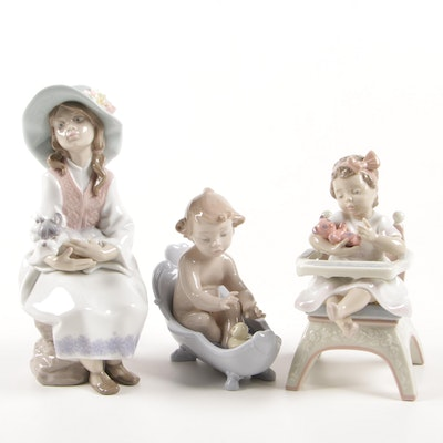 "Lladró Porcelain Figurines Including ""Little Bear"" and ""Daydreams"""
