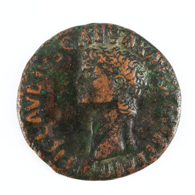 Ancient Roman Imperial AE As Coin of Claudius, ca. 43 A.D.