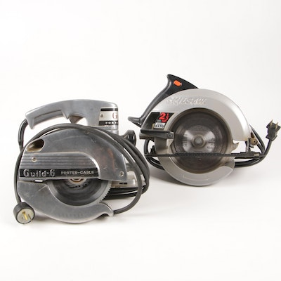 "Skilsaw 7.25"" and Porter-Cable ""Guild-6"" Circular Saws"