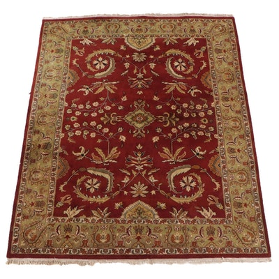 7'10 x 10'1 Hand-Knotted Persian Tabriz Wool Rug