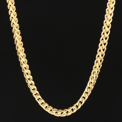 14K Yellow Gold Franco Box Chain Necklace