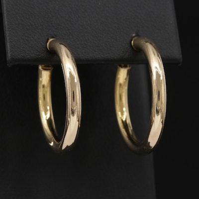 UnoAErre 14K Yellow Gold Hoop Earrings