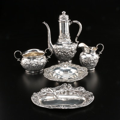 Ferdinand Fuchs & Bros Sterling Silver Coffee Set and Other American Holloware