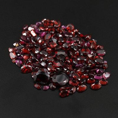 Loose 95.50 CTW Garnet Gemstones