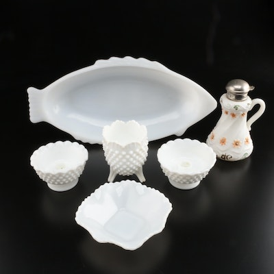 Milk Glass Candlesticks and Other Tabletop Décor