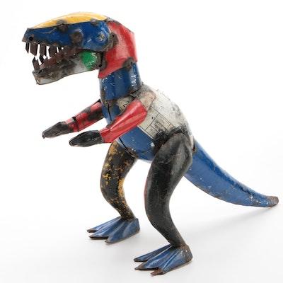 Mexican Folk Art Scrap Metal T-Rex Sculpture