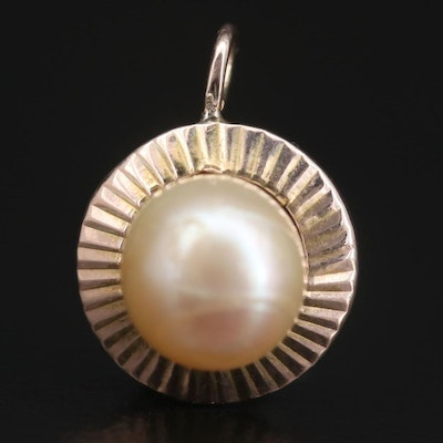 14K Yellow Gold Pearl Pendant