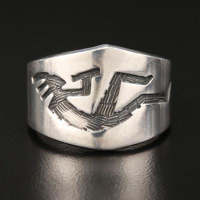 Sterling Silver Kokopelli Ring