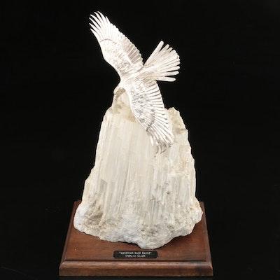 "Stan Bentall Sterling Silver and Feldspar Sculpture ""American Bald Eagle"""