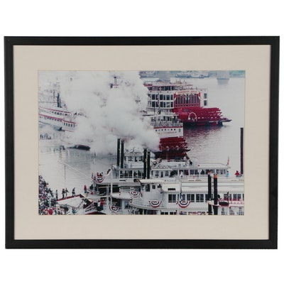 Cincinnati Tall Stacks Riverboat Festival Chromogenic Color Photograph