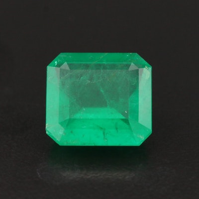 Loose 6.00 CT Brazilian Emerald with GIA Report