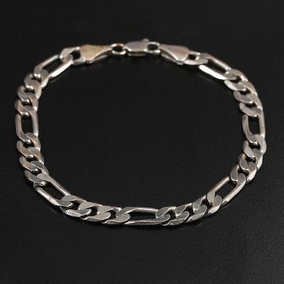 Figaro Chain Link Bracelet