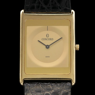 Concord Delirium 18K Gold Quartz Wristwatch