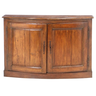 French Provincial Oak Demilune Console Cabinet, 19th/20th Century