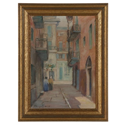 Alberta Kinsey Oil Painting of City Street