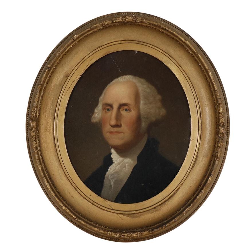 """Oil Painting after Gilbert Stuart """"The Athenaeum Portrait"""""""