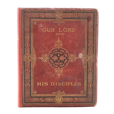 "1869 ""Our Lord and His Twelve Disciples"" with Photographs after da Vinci Drawing"