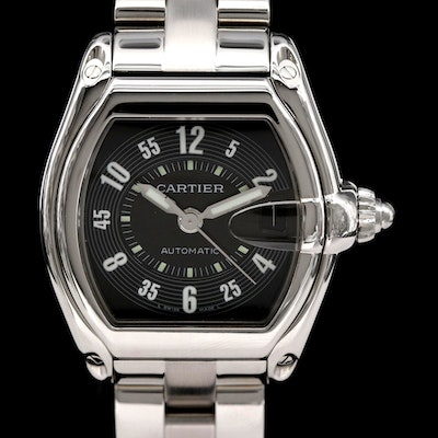 Cartier Roadster Stainless Steel Automatic Wristwatch