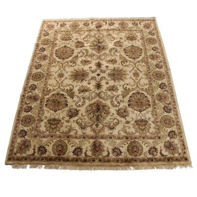8'0 x 10'7 Hand-Knotted Indo-Persian Tabriz Room Size Rug