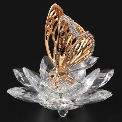 "Swarovski Crystal ""Butterfly in Flight"" Figurine, 1985–1988"