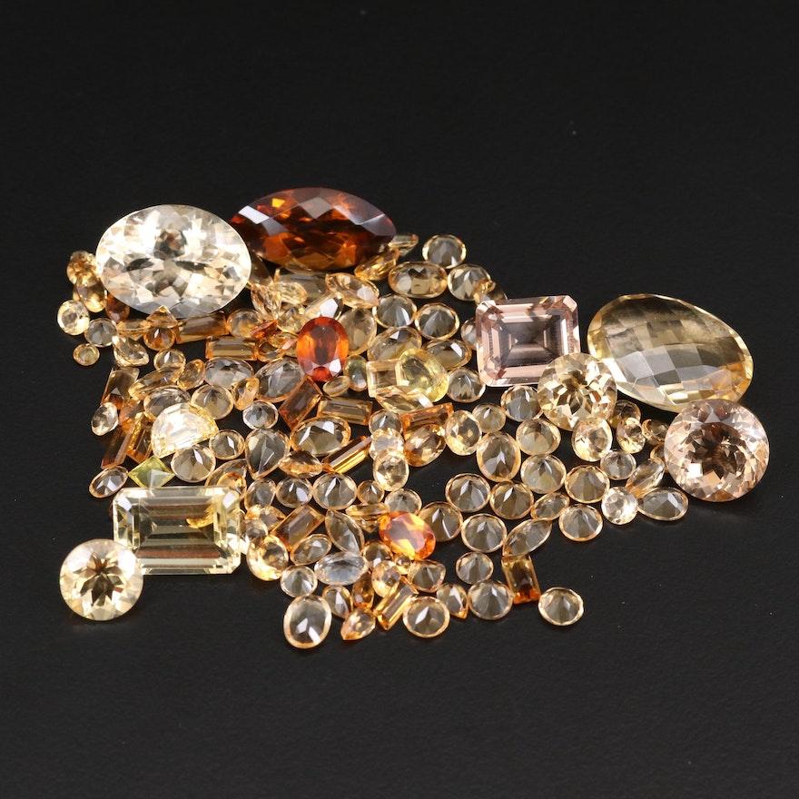 Loose 107.15 CTW Citrine Gemstones