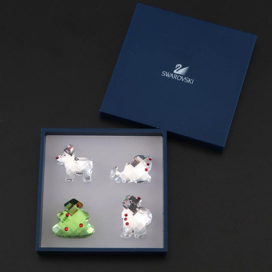 Swarovski Crystal Christmas-Themed Miniature Figurines