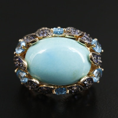 Le Vian 14K Turquoise, Topaz and Tanzanite Ring