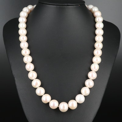 Sterling Silver Cultured Pearl Knotted Necklace