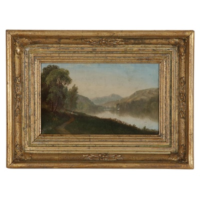 Daniel Charles Grose Landscape Oil Painting, 1875