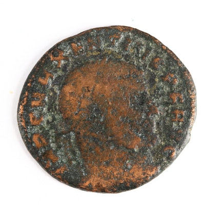 Ancient Roman Imperial AE Follis Coin of Maxentius, ca. 309 A.D.