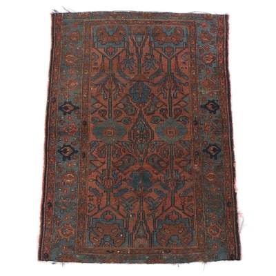 3'8 x 5'1 Hand-Knotted Persian Shahsavan Wool Rug