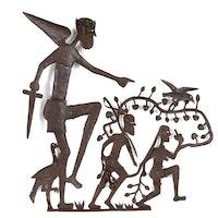 Gabriel Bien-Aime Haitian Figural Metal Sculpture