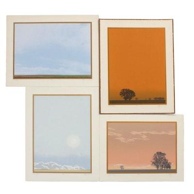 "Oren S. Johnson Folio ""Big Sky: Serigraphs and Verse"", 1975"